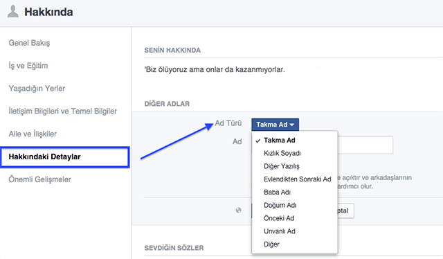 facebook alternatif isim